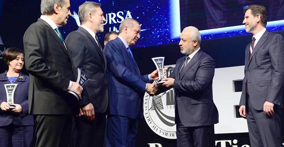 Mescioğlu'na Cumhurbaşkanı Erdoğan'dan Ödül